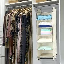 hanging closet organizer ideas. Exellent Ideas Wardrobe Rage Closet Organizer Organiser Ideas Makeover Wood Shelf Fabric  Hanging Cloth Bag Accessory And Clothes With Gar Rod Sky Blue Rack Shelves Holder  Inside