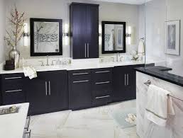 White Bathroom Cabinets With Dark Countertops Pictures Also Brown