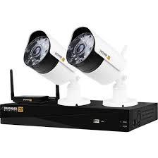 Defender - 4-Channel, 2-Camera Indoor/Outdoor Wireless 1080p 1TB DVR