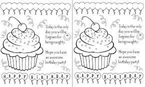 Birthday Cards For Kids To Color Printable Birthday Cards For Kids ...