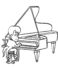 Small Picture Piano Player Coloring Sheet Clip Art Library
