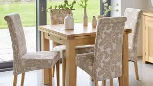 Patterned Dining Chairs Fascinating Fabric Dining Chairs Oak Fabric Chair Sets Oak Furniture Land