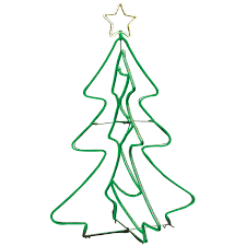 GE 5-ft Freestanding Tree with Constant Green LED Lights