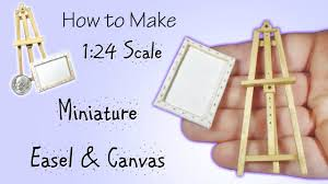 miniature easel canvas tutorial actually works dollhouse how to make 1 24 scale diy you
