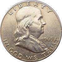 1963 Ben Franklin Half Dollar Value Cointrackers