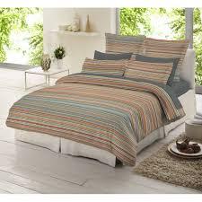 dormisette multi colour striped 100 brushed cotton duvet cover