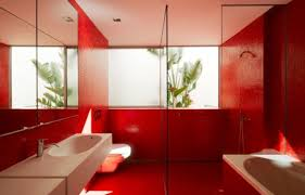 Image Bathroom Tile Redbathroomdesignideas012554x355 Home Design Cool And Bold Red Bathroom Design Ideas Home Design