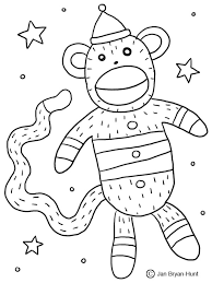 Sock Monkey Coloring Page 29918