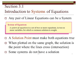 1 section 3 1 introduction to systems of equations any pair of linear equations can be a