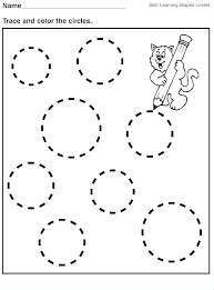 Learning Shapes Worksheets Learning Shapes Color Trace Connect And ...