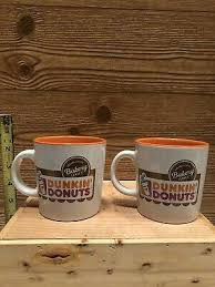 In honor of national donut day (it's june 5.didn't you send your mother a card?!), we ordered all of the mega chain's creations that we would consider classic—no cheesecake. Two Dunkin Donuts Coffee Cup Mug 14 Oz White Orange W Lettering New Ebay
