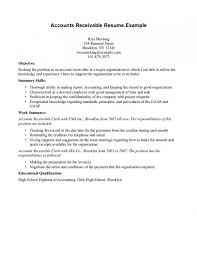 Download Accounts Receivable Resume Template Document Manager