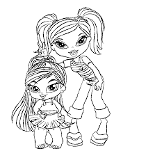Small Picture Beautiful Bratz Coloring Pages Images Coloring Page Design