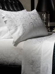 beautiful white damask sheets from