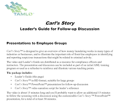 Carl S Story Video Resource Tamlo International