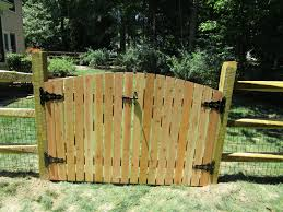 wood fence double gate. 120_double-arched-gate-syp-pressure-treated-close-spaced Wood Fence Double Gate T