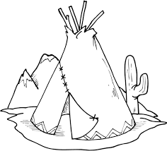 Indian Coloring Pages Teepee Coloringstar