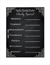 family menu template 20 weekly menu templates free sample example format download