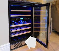 lockable wine cooler