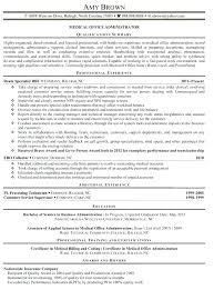 Sample Resume For Medical Office Manager Business Office Manager Resume Airexpresscarrier Com