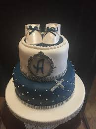 Yami Cakes Beautiful White And Royal Blue Christening Cake Facebook