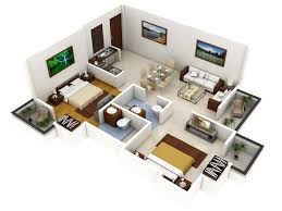 simple house plan with 2 bedrooms 3d home design ideas