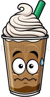 iced coffee clipart. Simple Iced Nervous Iced Coffee Emoticon PNG  JPG And Vector EPS File Formats  Infinitely Scalable Intended Iced Coffee Clipart G