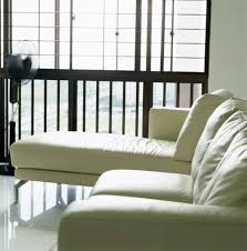light colored leather couch