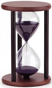 Being in the moment is like placing yourself at the center of the hourglass.  What