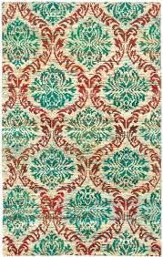 recycled sari silk rugs ivory teal rug hand knotted 5 x 8 art home 1 sari silk rug