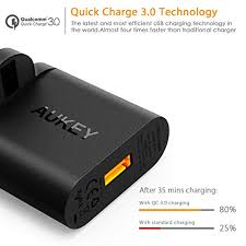 iphone quick charge. aukey quick charge 3.0 usb wall charger 19.5w fast for iphone, ipad, htc, huawei, lg, sony and more iphone