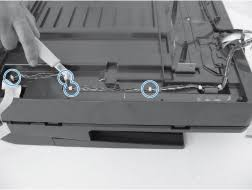 hp laserjet pro mfp m521 replace the adf whole unit hp® customer cut the plastic cable ties holding the wire harness to the document feeder scanner assembly and remove it from the channel beneath scanner rear cover