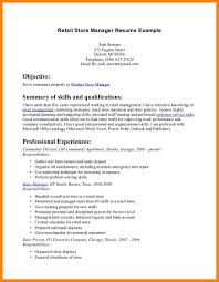 7 Basic Resume Examples For Retail Jobs Letter Adress