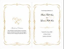 wedding reception program templates free download wedding office com