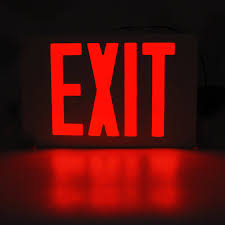 Ul Listed Single Double Face Led Exit Sign Light Torchstar