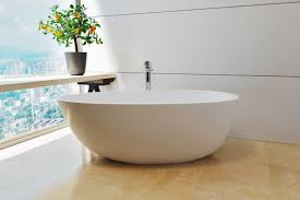are freestanding baths fixed to the floor