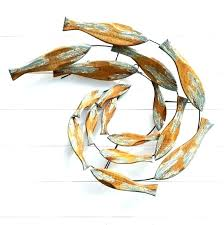 large metal fish wall art red sculptures shoal our gallery of modest ideas wooden met
