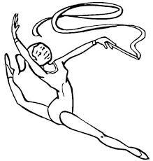 Gymnastiek Kleurplaat Gratis Kleurplaten Printen