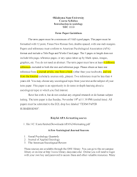 Term Paper Guidelines Soc 1113 Introductory Sociology Studocu