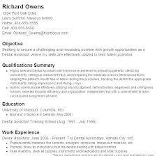Dental Assistant Objective For Resume Resume Examples For Dental Assistants 73