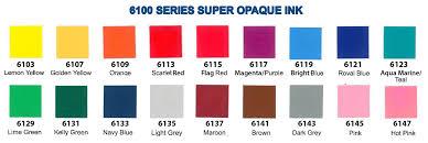 International Coatings Ink Color Chart Aqua Marine Super Opaque 6123