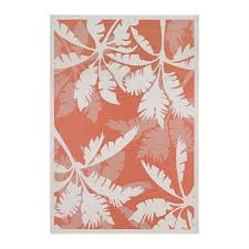 couristan 22163145 monaco coastal fl ivory orange outdoor rug