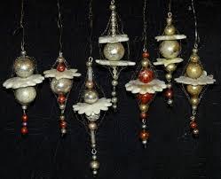 7 Zauberhafte Gablonzer Ornamente Mit Leonischen Drähten Um
