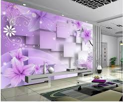 home decor living room natural art purple warm flowers tv wall mural 3d wallpaper 3d wall papers for tv backdrop images of wallpapers images on wallpaper