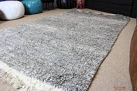 moroccan rug beni ourain pure wool hand knotted large 254 x 150 cm 8 3ft x 5ft bon1