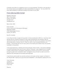 Sample Cover Letter Nursing New Grad Cover Letter For Nurses Sample