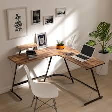 corner computer desk l shaped laptop pc