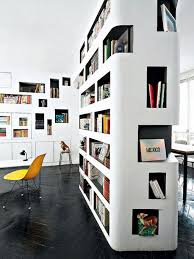 Modern Bookcase Built In Home Library