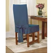 sure fit cotton duck shorty dining room chair cover claret