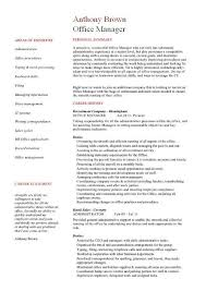 sample resume for office manager position office manager cv sample